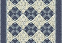 easy 3 color quilt patterns got blues monochromatic Cozy Easy 3 Color Quilts Inspirations