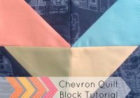 easy chevron quilt block tutorial patchwork posse Cozy Easy Chevron Quilt Pattern Inspirations