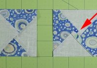 easy quarter square triangle instructions Quarter Square Triangle Quilt Pattern