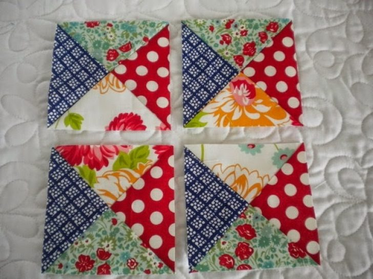Permalink to Modern Quarter Square Triangle Quilt Inspirations