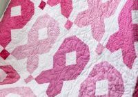 easy ribbon quilt missouri star blog Cozy Breast Cancer Quilt Pattern