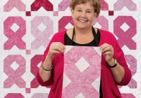 easy ribbon quilt missouri star blog Cozy Pink Ribbon Breast Cancer Quilt Pattern Inspirations