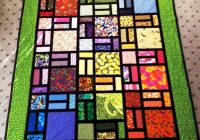 easy stained glass quilt in green bluprint Interesting Stained Glass Quilt Patterns Inspirations