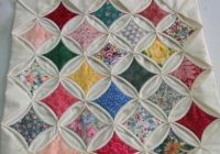 easy vintage style precut cathedral window quilt kit w Cozy Cathedral Quilt Patterns Gallery