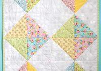 Elegant 15 free ba quilt patterns the seasoned homemaker Stylish Patchwork Baby Quilt Patterns Free