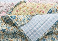 Elegant 3 piece farmhouse green quilts queen size all over vintage floral patterns rustic traditional look bedding set ruffled stripe gingham calico country 9 Interesting Vintage Floral Quilts Gallery