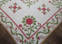 Elegant amazing christmas 1850s antique applique red green quilt 10 Stylish Antique Applique Quilt Patterns