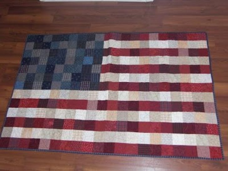 Permalink to Modern American Flag Quilt Pattern
