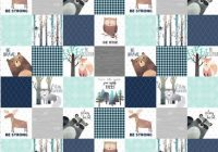 Elegant ba boy woodland cheater quilt fabric the yard cotton navy grey woodland nursery organic cotton minky fabric Interesting Quilting Fabric By The Yard Gallery