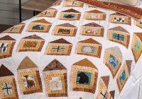 Elegant bear in the log cabin quilt pattern 9 Cool Log Cabin Quilting Pattern