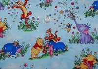 Elegant boneful fabric fq cotton quilt winnie the pooh ba eeyore piglet spring flower ebay 9 Elegant Winnie The Pooh Quilting Fabric Gallery