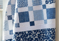 Elegant choose beautiful fabrics for an easy two color quilt 11 Stylish Two Color Quilts Patterns