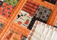 Elegant coffee time quilt for halloween halloween quilt patterns 11 Modern Halloween Quilts Patterns