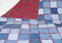 Elegant denim rag quilt frayed denim jean quilt 64 x 49 blue denim 10 Interesting Denim Rag Quilt Patterns
