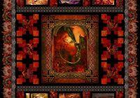 Elegant dragons quilt pattern 9 Modern Dragon Quilt Patterns Inspirations