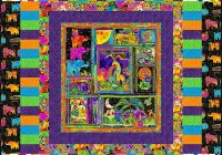 Elegant free pattern laurel burch mythical jungle equilter 9 Cozy Laurel Burch Quilt Fabric
