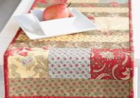 Elegant free table runner patterns allpeoplequilt Interesting Patterns For Quilted Table Runners Inspirations