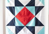 Elegant giant star ba quilt pattern the polka dot chair 11 Modern Quilt Blocks Patterns Gallery