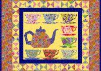 Elegant grandmas tea party miniature quilt pattern piece number 10 Beautiful Teapot And Teacup Patterns For Quilt Blocks