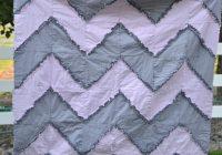 Elegant gray and pink chevron rag quilt toddler bedding ba 9 Cool Chevron Rag Quilt Pattern Inspirations