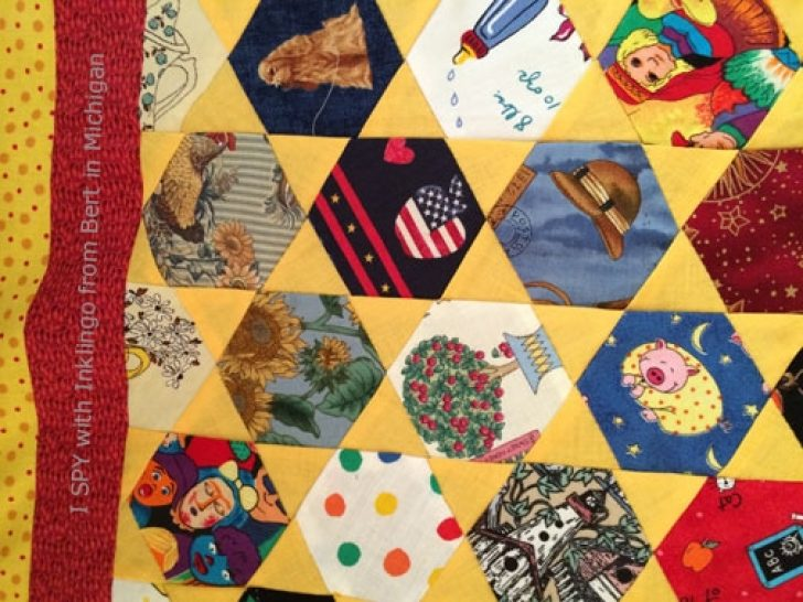 Permalink to 9   I Spy Quilt Pattern Hexagon Inspirations