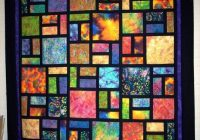 Elegant ideas or thoughts batiks mixed with solids quilts 11   Stained Glass Window Quilt Pattern Gallery