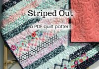 Elegant jelly roll quilt pattern striped out strip throw easy beginner pattern 25 inch strips lap throw scrappy quilt pattern pdf instant upload 11 Unique Jelly Roll Quilt Patterns