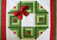 Elegant log cabin christmas wreath wall hanging plus bonus scrappy Cozy Eleanor Burns Log Cabin Quilt Pattern