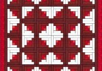Elegant log cabin quilt is one of the easiest quilt blocks to construct 11 Elegant Log Cabin Quilt Pattern Instructions Gallery