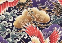 Elegant majestic cranes purple asian japanese quilt fabric from 9 Elegant Asian Quilt Fabric Gallery