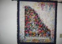 Elegant piano watercolor quilt watercolor quilt flower quilts Cozy Watercolor Quilts Gallery