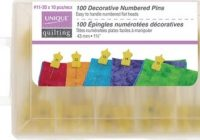Elegant pins dianes creative elements 10 Beautiful Numbered Pins For Quilting And Sewing Inspirations