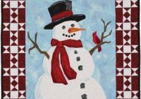 Elegant snowman quilt patterns not just for the holidays 10 Unique Snowman Quilt Patterns Applique