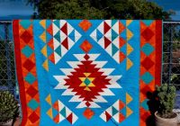 Elegant southwest quilt pattern navajo inspired indian native american quilt throw finished size 56x 78 pdf download 9 Stylish Southwestern Quilt Patterns