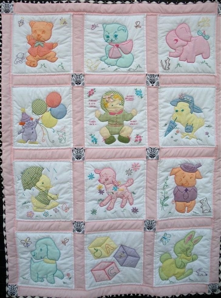Permalink to 9 Stylish Vintage Baby Quilt Inspirations