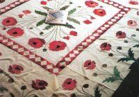 elegant vintage poppy quilt pattern inspiration quilt Cool Vintage Poppy Quilt Pattern
