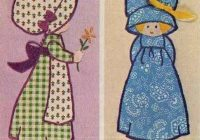 Elegant vintage simplicity 6258 holly hobbie doll appliques sewing New Holly Hobbie Quilt Pattern Inspirations