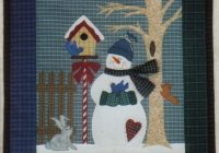 Elegant winter neighbors quilt pattern jmi 201 intermediate wall 10 Unique Snowman Quilt Patterns Applique