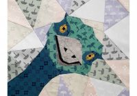 emu a foundation paper pieced quilt pattern bird quilt block pdf quilt pattern Cozy Foundation Quilt Patterns Inspirations