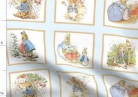 fabric the yard peter rabbit quilt block panel no 1 ice blue Cozy Peter Rabbit Quilt Pattern Inspirations