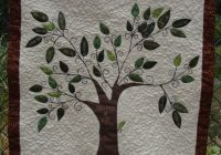 family tree quilt wall hanging 12500 via etsy tree 9 Modern Family Tree Quilt Pattern Gallery