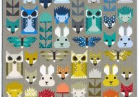 fancy forest designed elizabeth hartman features pacific Modern Animal Patchwork Quilt Patterns Gallery
