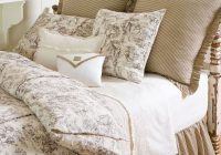 farmhouse toile bedding taylor linens bedding bedrooms Cozy Country Living Classic Vintage Quilt Set
