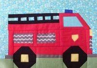 fire truck ba quilt pattern truck paper piecing quil Stylish Fire Truck Quilt Pattern Inspirations