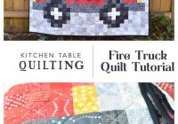 firetruck quilt tutorial patchwork ba quilt patterns Stylish Fire Truck Quilt Pattern Inspirations