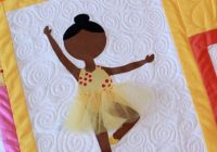 first position modern applique ballerina quilt pattern Stylish Applique Quilt Patterns For Children Inspirations