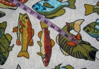 flannel fabric with fish fishing perch from connies quilt Interesting New Fish Fabric For Quilting