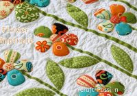 flower applique free applique pattern craft passion Applique Flower Quilt Patterns