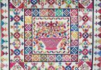 flower basket medallion applique quilt pattern kim mclean ebay Interesting Flower Basket Quilt Pattern