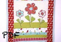 flower quilt pattern table runner quilt pattern applique pattern mug rug pattern quilt pattern pdf pattern spring quilt pattern Applique Flower Quilt Patterns